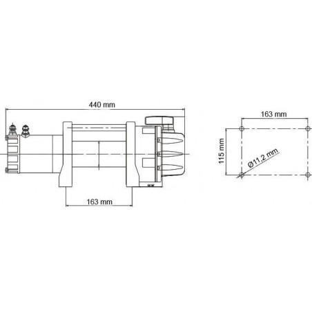 Elektrický navijak Golemwinch 2.7 tun