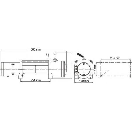 Elektrický naviják Golemwinch 5.4 tun 12V